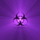 Biohazard warning sign light flare Royalty Free Stock Image