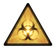 Biohazard warning sign light flare isolated Stock Image