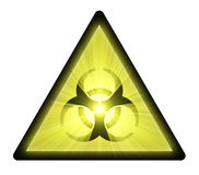Biohazard warning sign light flare Stock Photography