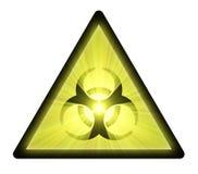 Biohazard warning sign light flare Stock Photography