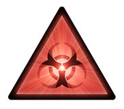 Biohazard warning sign light flare Stock Photos