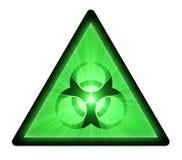 Biohazard warning sign light flare Stock Images