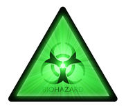 Biohazard warning sign light flare Royalty Free Stock Photos