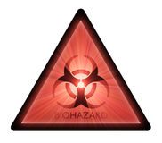 Biohazard warning sign light flare Stock Images