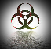 Biohazard warning sign. Stock Photos