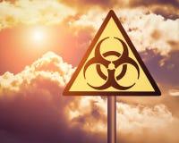 Biohazard warning sign. royalty free stock image