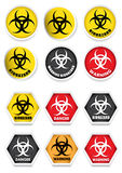 Biohazard Warning Stickers Stock Photography