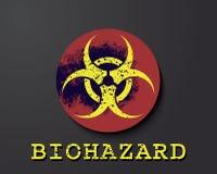 Biohazard  warning symbol. Royalty Free Stock Images
