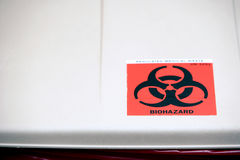 Biohazard waste can Royalty Free Stock Images