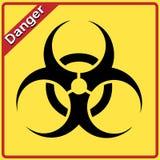 Biohazard Zeichen. Gelbe und schwarze Biogefahr Lizenzfreie Stockbilder