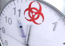 Biohazardnedräkning Royaltyfria Bilder