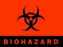 biohazardtecken royaltyfri illustrationer