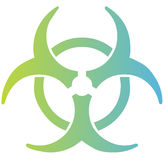 biohazardtecken Arkivfoton