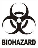 biohazardtecken Fotografering för Bildbyråer