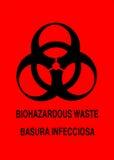 biohazardteckenvarning Fotografering för Bildbyråer