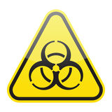 biohazardteckenvektor Fotografering för Bildbyråer