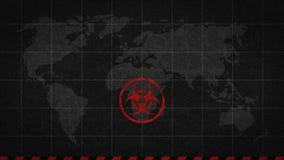 Biohazardzeichen-Gefahrenglobale Katastrophe vektor abbildung