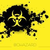 Biohazrad niebezpieczeństwa ostrzegawczy tło Zdjęcia Stock