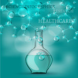 Bioinfographics stock illustratie