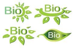 Biokonzeptsatz Firmenzeichen Lizenzfreies Stockfoto