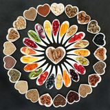 Biokost für ein gesundes Herz Stockfoto