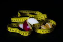 Biokost mit messendem Band II Lizenzfreies Stockfoto