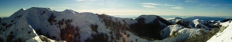 biokovo克罗地亚山冬天 图库摄影