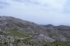 Biokovo drogi widok górski Obraz Stock