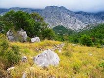 Biokovo góra Zdjęcia Royalty Free