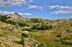 Biokovo landscape. Biokovo is natural park in Croatia, located along the Dalmatian coast of the Adriatic Sea, It shows a typical karst landscape Royalty Free Stock Photography