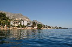 Biokovo mountain from sea at Podgora, Croatia Stock Photography