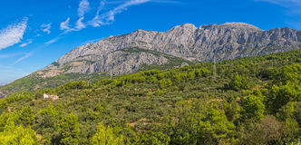 Biokovo mountain Tucepi Royalty Free Stock Photography