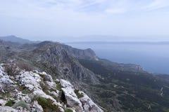 Biokovo widok górski Obrazy Stock