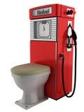 Biokraftstoffpumpe und Toilette Lizenzfreies Stockbild