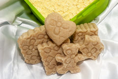 Biolagical home made soap chickpea flour Royalty Free Stock Image