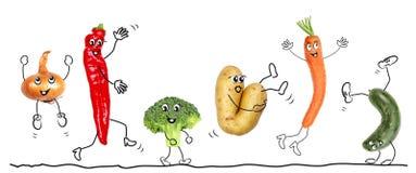 Bioligian warzywo, komiczka Obraz Stock