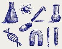 Biologia, química e física Fotos de Stock