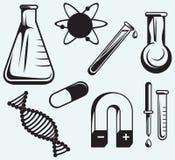 Biologia, química e física ilustração royalty free