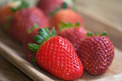 Biologic strawberries Stock Images
