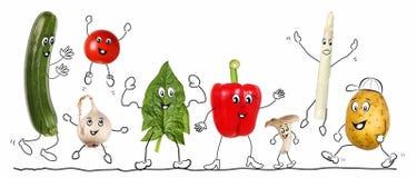 Biologic warzywo, komiczka 2, odizolowywająca royalty ilustracja