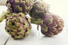 Biological artichokes Stock Photography