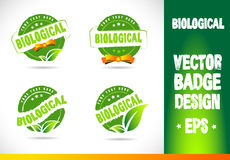 Biological Badge Vector Royalty Free Stock Images