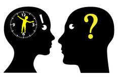 Biological Clock Ticking?. Couple thinking to have children, is it high time Royalty Free Stock Images