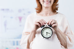Biological clock ticking Royalty Free Stock Images