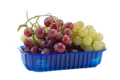 Biological colorful mixed grapes Royalty Free Stock Images