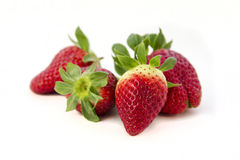 Biological fresh strawberries -. Five biological fresh strawberrys out of organic farming Stock Photography