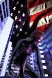 Biological hazard. United states in danger for a biological hazard. A narrative image in 3d Royalty Free Stock Image