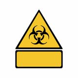Biological hazard sign vector design Royalty Free Stock Photography