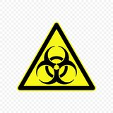 Warning sign Vector illustration. Biological hazard Warning sign. Hazard symbols Royalty Free Stock Photo