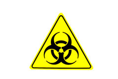 Biological hazard warning sign Stock Image